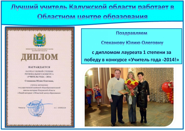 Поздравления за победу в конкурсе учитель года