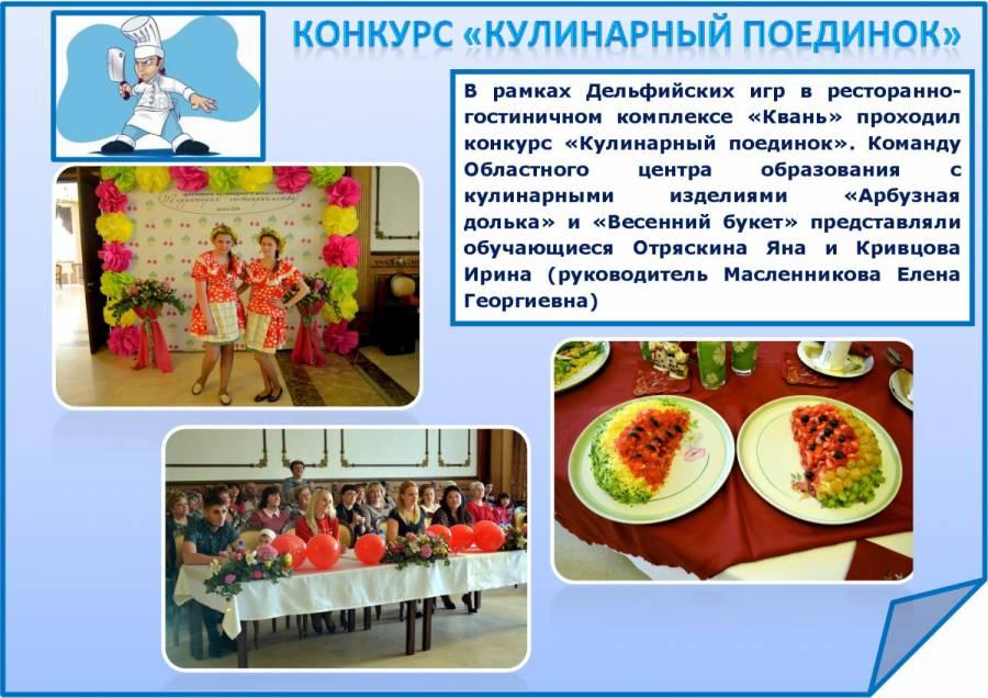 Кулинарные конкурсы и их команды